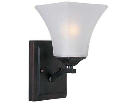 Maxim Lighting Aurora Oil Rubbed Bronze & Frosted Glass Incandescent Wall Sconce MX20098FTOI