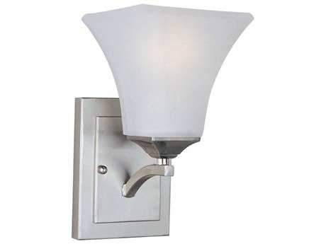 Maxim Lighting Aurora Satin Nickel & Frosted Glass Incandescent Wall Sconce MX20098FTSN