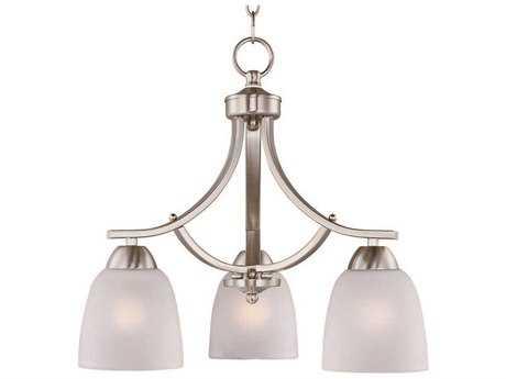 Maxim Lighting Axis Satin Nickel Three-Light 18 Wide Mini-Chandelier MX11223FTSN