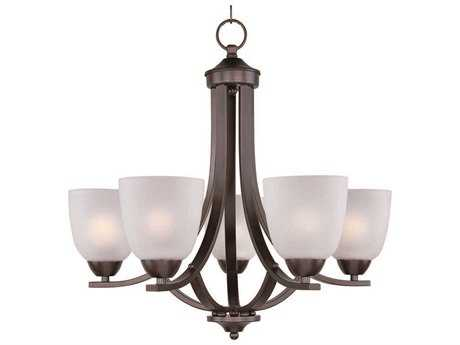 Maxim Lighting Axis Oil Rubbed Bronze Five-Light 24 Wide Mini-Chandelier