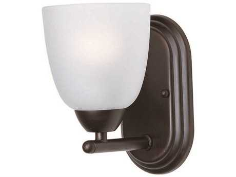 Maxim Lighting Axis Oil Rubbed Bronze & Frosted Glass Vanity Light MX11311FTOI