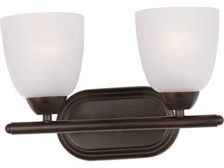 Maxim Lighting Axis Oil Rubbed Bronze & Frosted Glass Two-Light Vanity Light MX11312FTOI