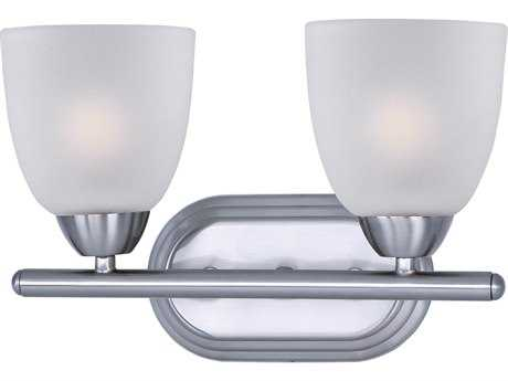 Maxim Lighting Axis Polished Chrome & Frosted Glass Two-Lights Vanity Light MX11312FTPC