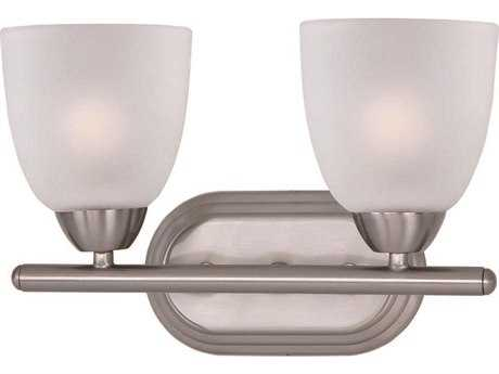 Maxim Lighting Axis Satin Nickel & Frosted Glass Two-Light Vanity Light MX11312FTSN