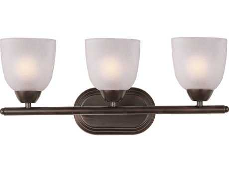 Maxim Lighting Axis Oil Rubbed Bronze & Frosted Glass Three-Light Vanity Light MX11313FTOI