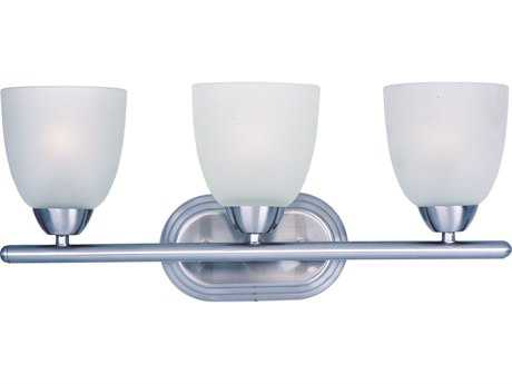 Maxim Lighting Axis Polished Chrome & Frosted Glass Three-Lights Vanity Light MX11313FTPC