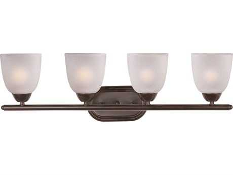 Maxim Lighting Axis Oil Rubbed Bronze & Frosted Glass Four-Light Vanity Light MX11314FTOI