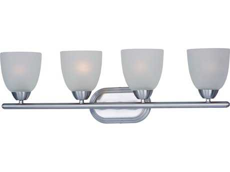 Maxim Lighting Axis Polished Chrome & Frosted Glass Four-Lights Vanity Light MX11314FTPC