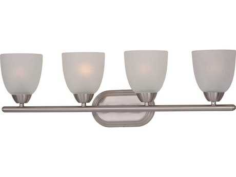 Maxim Lighting Axis Satin Nickel & Frosted Glass Four-Light Vanity Light