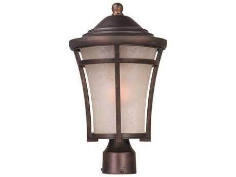 Maxim Lighting Balboa Copper Oxide & Lace Glass 10'' Wide Incandescent Outdoor Post Light MX3800LACO
