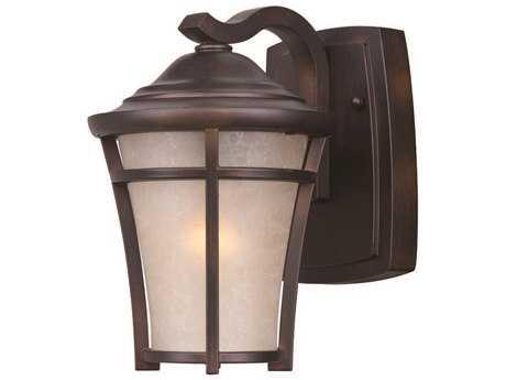 Maxim Lighting Balboa Copper Oxide & Lace Glass 6.5'' Wide Incandescent Outdoor Wall Light MX3802LACO