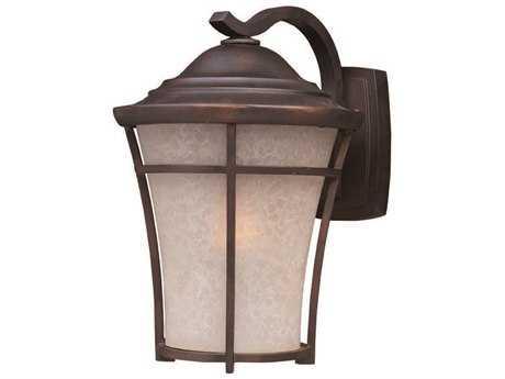 Maxim Lighting Balboa Copper Oxide & Lace Glass 10'' Wide Incandescent Outdoor Wall Light MX3804LACO