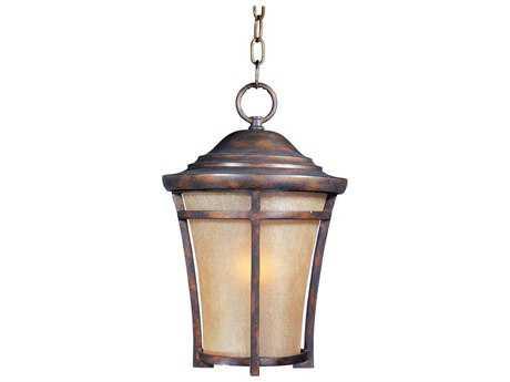 Maxim Lighting Balboa Copper Oxide & Golden Frost Glass 12'' Wide Incandescent Outdoor Hanging Light MX40167GFCO