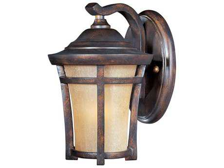 Maxim Lighting Balboa Copper Oxide & Golden Frost Glass 6.5'' Wide LED Outdoor Wall Light MX55162GFCO