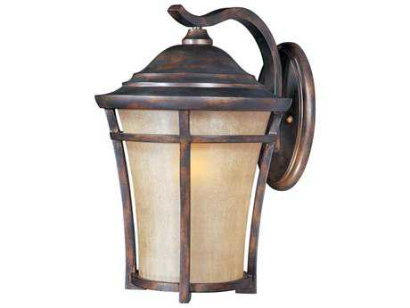 Maxim Lighting Balboa Copper Oxide & Golden Frost Glass 12'' Wide LED Outdoor Wall Light MX55165GFCO