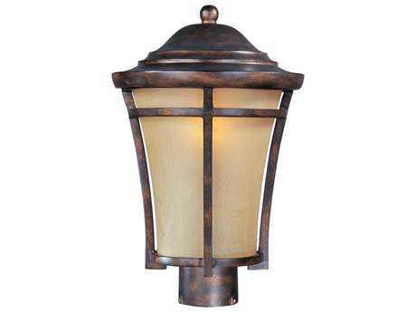 Maxim Lighting Balboa Copper Oxide & Golden Frost Glass 10'' Wide Incandescent Outdoor Post Light MX40160GFCO