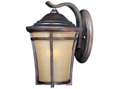 Maxim Lighting Balboa Copper Oxide & Golden Frost Glass 7.5'' Wide Incandescent Outdoor Wall Light MX40163GFCO