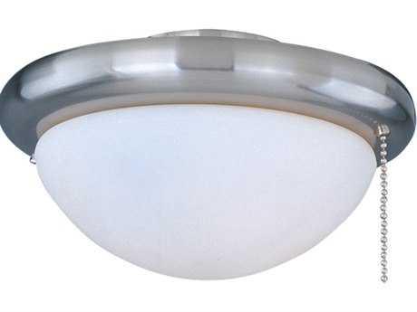 Maxim Lighting Basic-Max Satin Nickel & White Glass Ceiling Fan Light Kit with Wattage Limiter MXFKT206SN