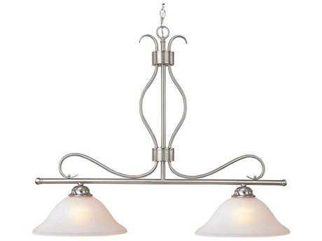 Maxim Lighting Basix Satin Nickel & Ice Glass Two-Light 36'' Long Island Light MX10126ICSN
