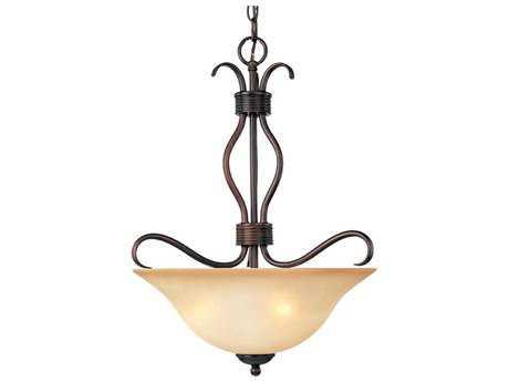 Maxim Lighting Basix Oil Rubbed Bronze & Wilshire Glass Three-Light 17'' Wide Invert Bowl Pendant Light MX10121WSOI