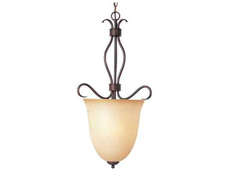 Maxim Lighting Basix Oil Rubbed Bronze & Wilshire Glass Four-Light 16.5'' Wide Foyer Pendant Light MX10131WSOI