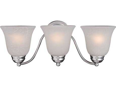 Maxim Lighting Basix Polished Chrome & Ice Glass Three-Light Incandescent Vanity Light MX2122ICPC