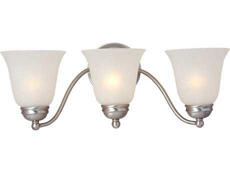Maxim Lighting Basix Satin Nickel & Ice Glass Three-Light Incandescent Vanity Light MX2122ICSN