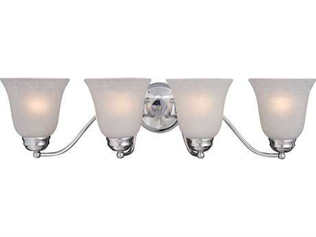 Maxim Lighting Basix Polished Chrome & Ice Glass Four-Light Incandescent Vanity Light MX2123ICPC