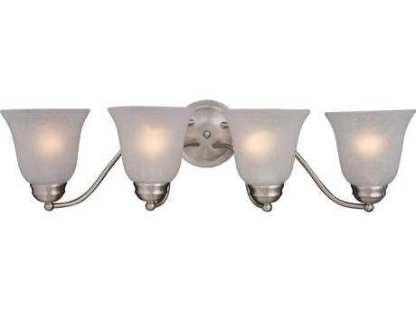 Maxim Lighting Basix Satin Nickel & Ice Glass Four-Light Incandescent Vanity Light MX2123ICSN