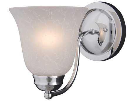 Maxim Lighting Basix Polished Chrome & Ice Glass Incandescent Wall Sconce MX2120ICPC