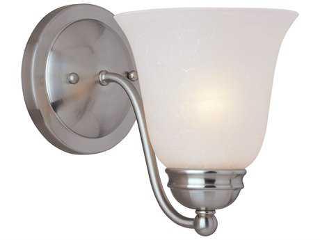 Maxim Lighting Basix Satin Nickel & Ice Glass Incandescent Wall Sconce MX2120ICSN