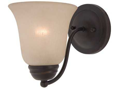 Maxim Lighting Basix Oil Rubbed Bronze & Wilshire Glass Incandescent Wall Sconce MX2120WSOI