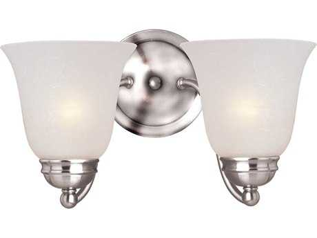 Maxim Lighting Basix Polished Chrome & Ice Glass Two-Light Incandescent Wall Sconce