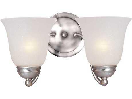 Maxim Lighting Basix Satin Nickel & Ice Glass Two-Light Incandescent Wall Sconce MX2121ICSN