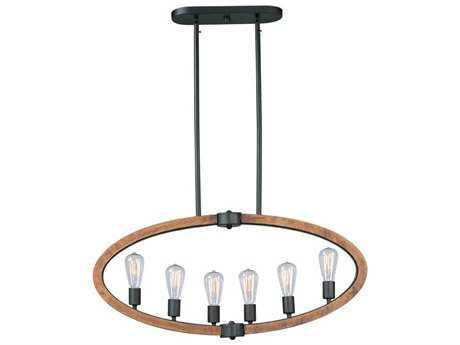 Maxim Lighting Bodega Bay Anthracite Six-Light 36'' Long Island Light (Bulb not Included) MX20913APAR