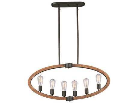 Maxim Lighting Bodega Bay Anthracite Six-Light 36'' Long Island Light (Bulb Included) MX20913APARBUI
