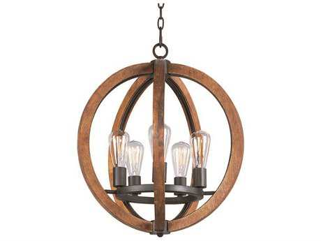 Maxim Lighting Bodega Bay Anthracite Five-Light 19'' Wide Mini Chandelier MX20917APARBUI