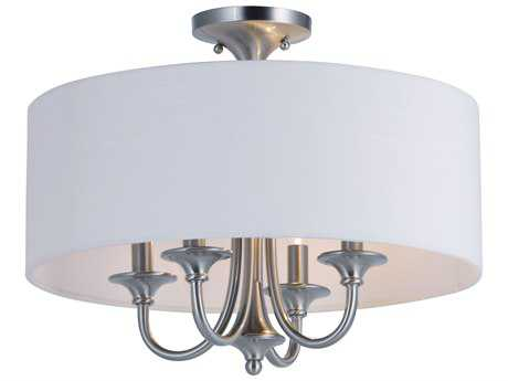 Maxim Lighting Bongo Satin Nickel Four-Light 18'' Wide Semi-Flush Mount Light MX10013WLSN