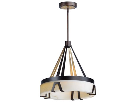 Maxim Lighting Boulder Bronze Gilt / Gold  24'' Wide LED Pendant Light MX30146BZGTGLD