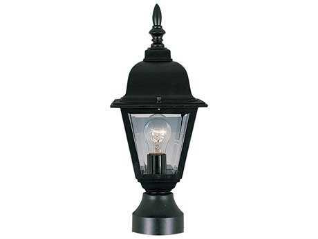Maxim Lighting Builder Cast Black & Clear Glass Outdoor Post Light MX3006CLBK