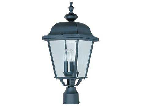 Maxim Lighting Builder Cast Black Three-Light Outdoor Post Light MX3008BK