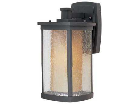 Maxim Lighting Bungalow Bronze & Seedy-Wilshire Glass 7'' Wide Fluorescent Outdoor Wall Light MX85653CDWSBZ