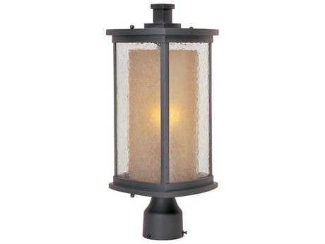 Maxim Lighting Bungalow Bronze & Seedy-Wilshire Glass 8'' Wide Incandescent Outdoor Post Light MX3150CDWSBZ