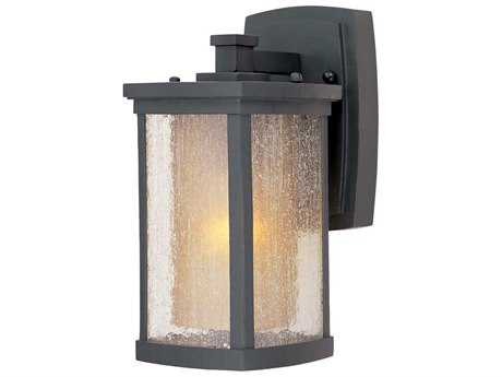 Maxim Lighting Bungalow Bronze & Seedy-Wilshire Glass 5'' Wide Incandescent Outdoor Wall Light MX3152CDWSBZ