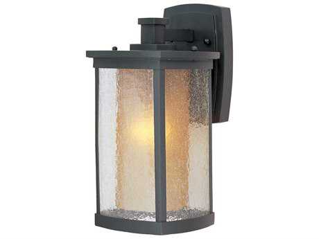 Maxim Lighting Bungalow Bronze & Seedy-Wilshire Glass 7'' Wide Incandescent Outdoor Wall Light MX3153CDWSBZ