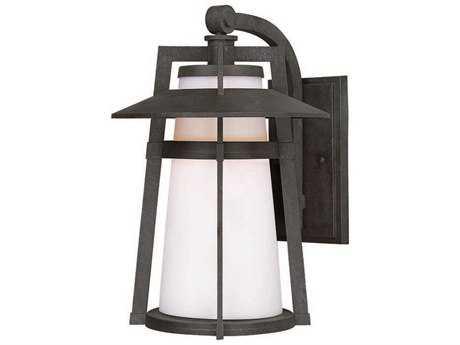 Maxim Lighting Calistoga Adobe & Satin White Glass 9'' Wide Incandescent Outdoor Wall Light MX3534SWAE