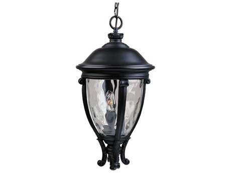 Maxim Lighting Camden Black & Water Glass Three-Light 13'' Wide Outdoor Hanging Light