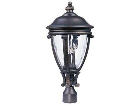 Maxim Lighting Camden Golden Bronze & Water Glass Three-Light 11'' Wide Outdoor Post Light MX41421WGGO