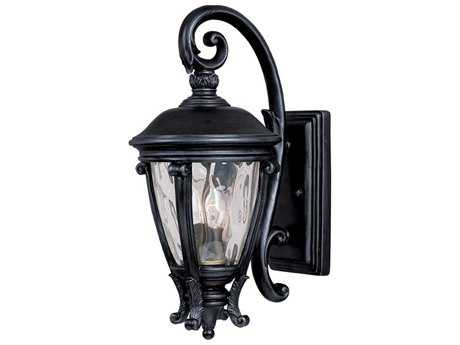 Maxim Lighting Camden Black & Water Glass Two-Light 8.5'' Wide Outdoor Wall Light MX41424WGBK