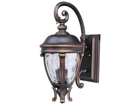 Maxim Lighting Camden Golden Bronze & Water Glass Two-Light 8.5'' Wide Outdoor Wall Light MX41424WGGO